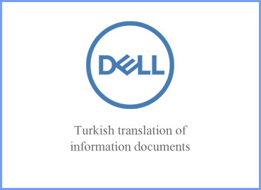 English to Turkish translation of marketing collateral