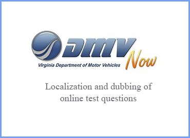 Turkish localization and dubbing of driving license test of Virginia State